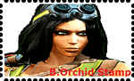 Black Orchid Stamp by WOLFBLADE111
