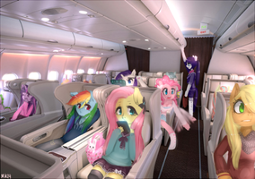 Airplane time~ by MarinaKirby