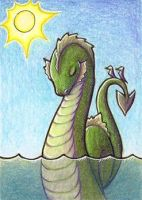 Sidney the Sea Serpent - ACEO by jefita