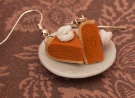 Pumpkin Pie Earrings by DeliciousTrickery