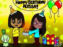Happy Birthday Alyssa! by Misskatt66