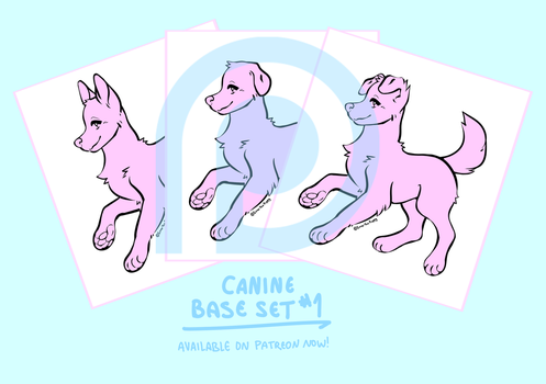 Canine Base 1 [available on patreon] by dog-san