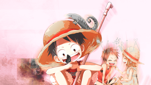 luffy And Nami *Design background* by victoricaDES