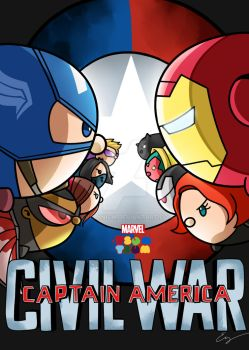 Week 7: Marvel Tsum Tsum : Civil War by Evelynism
