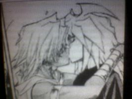 Marik x Bakura kiss by Love13666