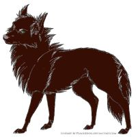 pyrenees/wolf character by kaylin540