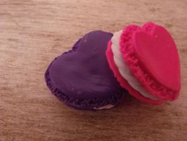 Heart Macaroons by Hearts-at-Sea