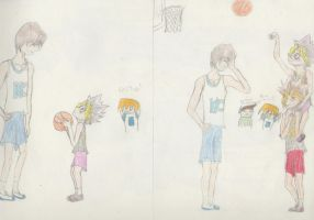 Yugi tries Basketball by Finny--chaan