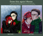 .: Draw this again meme :. Grell x Will by CaptainPinsel