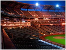 Empty Stadium by MikeMonaghanPhoto
