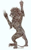 Tribal Lion Tattoo Design by chezarawolf
