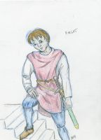 Young knight by Cwylldren