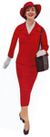 Lady in Red Dress 1950s by wotdoin