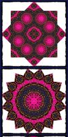 Tres Pink Mandala by tiannei