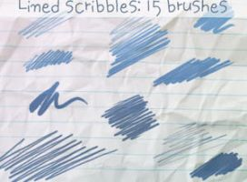 Lined Scribbles Brushes by ibeliever