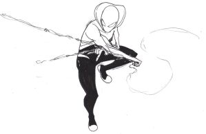 Another Spider-Gwen sketch! by ConstantM0tion