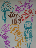regular show random sketch by 10SHADOW-GIRL10