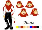 Reference sheet: Hanz by OMIT-Story