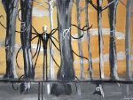 Another Slender Man painting by Valashard