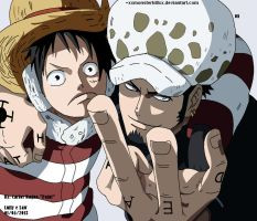 Monkey D. Luffy e Trafalgar Law by xxMoNsTerKiLLxx
