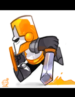 Castle Crashers - Orange Knight by RZSTUDIO