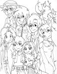 The old RP gang lineart by Ninja-Chic