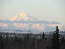 Mount Redoubt by xdancingintherain
