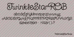 TwinkleStarROB font by TheTimeeOfOurLives