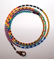 26in patchwork seed bead necklace by artefaccio