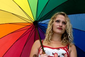 Umbrella-girl in the sommer by robdrown