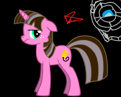 Me and Wheatly by ZoruaAWESOME