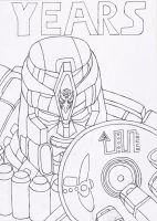 BW Megatron Outlines by BlackTerrorsaur