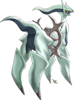 Arceus Steel Type by Xous54