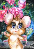 A happy little mouse by Alexandra-Glazer