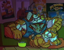 Tigress and Gettar movie night by Ritualist