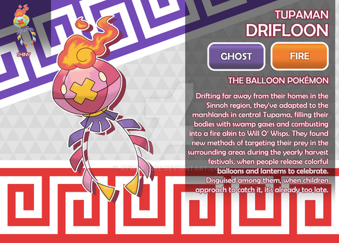 Tupaman Drifloon, the Balloon Fakemon by AtmaFlare