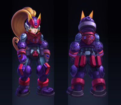 Megaman ZX Advent Ashe redesign by Rav3nway
