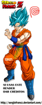 Son Goku Super Sayan Blue by SergioFrancZ