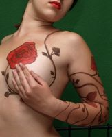 Rose Tattoo by atzui