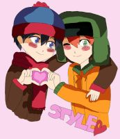 Stan x Kyle - Candy hearts by steffanny