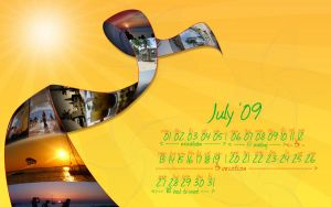 July 09 wallpaper calendar by colaja