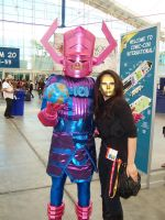 Madame Masque and Galactus by NovelPashion