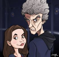 The Twelfth Doctor and Clara by thecommonwombat