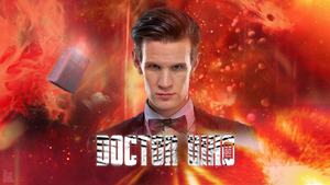 50th Anniversary Matt Smith Wallpaper Ver. 2 by theDoctorWHO2