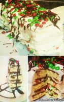 Ice Cream Sandwich Cake by ClassicDarkWings