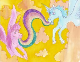 angels with rainbows by inner-etch