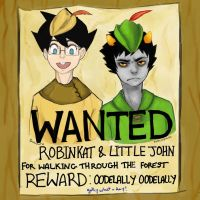 RobinKat and Little John by candycanesmoke