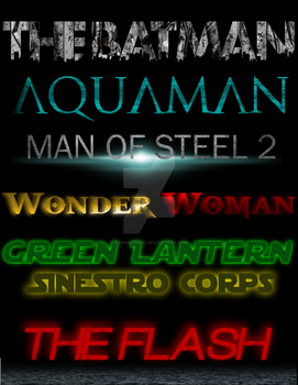 DC Cinematic Universe Movie Logos by RedHood2913