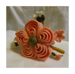 Large Ume (plum blossom) kanzashi by EruwaedhielElleth