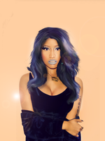 Nicki Minaj Blue Wig by patrycjaap94